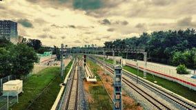 De Spoorweg van Moskou stock foto