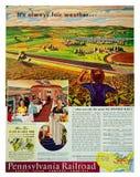 De Spoorweg van Pennsylvania Uitstekende reclame royalty-vrije stock foto