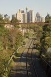 De spoorweg van Sydney stock afbeelding