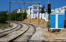De spoorweg van Tunis stock afbeeldingen