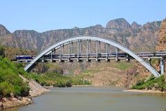 De spoorwegbrug van Fengsha Stock Afbeelding