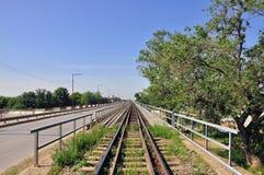 De spoorwegen van de brug Stock Foto