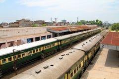De Spoorwegen van Pakistan stock foto's