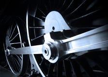 De spoorwegmotor van de stoom Stock Afbeeldingen