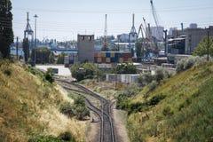 De spoorwegpassen Royalty-vrije Stock Foto's