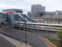 De Spoorwegpost van Stamford metro-in het noorden Royalty-vrije Stock Foto's