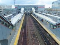 De Spoorwegpost van Stamford metro-in het noorden Royalty-vrije Stock Foto