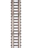 De spoorwegspoor van het stuk speelgoed dat op witte achtergrond wordt geïsoleerdw Royalty-vrije Stock Fotografie
