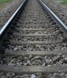 De spoorwegsporen sluiten omhoog royalty-vrije stock afbeeldingen