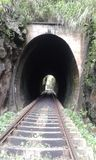 De spoorwegtunnel Sri Lanka stock foto's