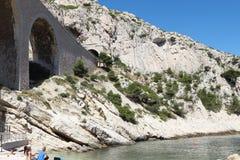 De spoorwegviaduct van La Vesse, Frankrijk Royalty-vrije Stock Fotografie