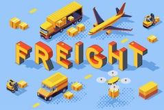 De SpoorwegVrachtvervoer van de de uitvoerweg vector illustratie