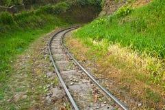 De sporen van de bergtrein Stock Foto's