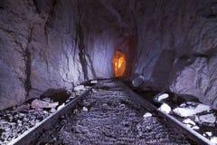 De Sporen van de goudmijn Stock Foto
