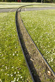 De sporen van de Minituarespoorweg Stock Foto's