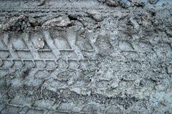 De sporen van de modder Royalty-vrije Stock Foto's