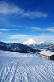 De sporen van de ski Royalty-vrije Stock Foto's