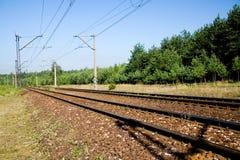 De sporen van de spoorweg stock afbeeldingen
