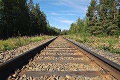 De sporen van de spoorweg Royalty-vrije Stock Afbeelding