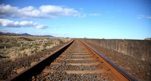 De sporen van de spoorweg. royalty-vrije stock afbeeldingen