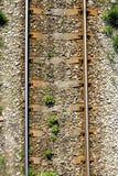 De sporen van de spoorweg Stock Afbeelding
