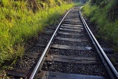 De sporen van de spoorwegtrein Royalty-vrije Stock Fotografie