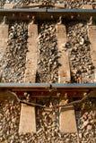 De sporen van de staalsteun Royalty-vrije Stock Afbeeldingen