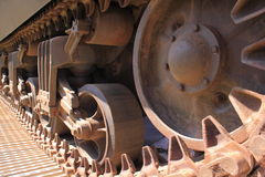 De sporen van de tank Stock Afbeeldingen