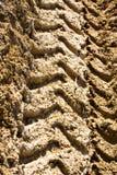 De sporen van de tractor Stock Afbeelding