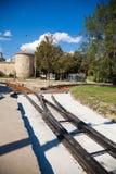 De sporen van de tram Royalty-vrije Stock Afbeelding