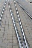De sporen van de tram Royalty-vrije Stock Foto's