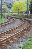 De sporen van de tram Stock Afbeeldingen
