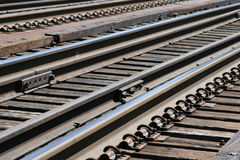 De Sporen van de trein stock afbeelding