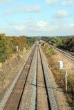 De sporen van de trein. Royalty-vrije Stock Fotografie