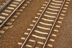De sporen van de trein Stock Fotografie