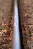 De sporen van de trein Stock Foto