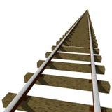 De Sporen van de trein Stock Illustratie