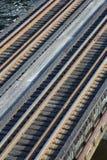 De Sporen van de Weg van het spoor royalty-vrije stock foto