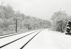 De sporen van de winter Stock Foto