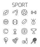 De sport bracht vectorpictogramreeks met elkaar in verband Royalty-vrije Stock Afbeelding