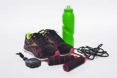 De sport heeft materiaal geïsoleerde gezonde actieve levensstijl bezwaar Stock Afbeelding
