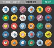 De sport maakte vlakke pictogrammen rond stock illustratie
