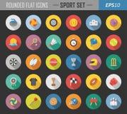 De sport maakte vlakke pictogrammen rond royalty-vrije illustratie