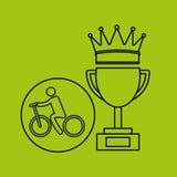 De sport van de de fietserwinnaar van de silhouetpersoon royalty-vrije illustratie