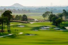 De sport van de golfcursus Stock Afbeeldingen
