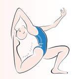De Sport van de yoga Royalty-vrije Stock Afbeeldingen