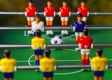 De sport van het voetbalvoetbalsters van de Foosballlijst teame Royalty-vrije Stock Fotografie