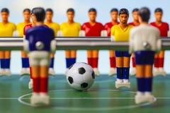 De sport van het voetbalvoetbalsters van de Foosballlijst teame Royalty-vrije Stock Afbeelding