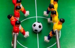 De sport van het voetbalvoetbalsters van de Foosballlijst teame Royalty-vrije Stock Foto's