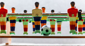 De sport van het voetbalvoetbalsters van de Foosballlijst teame Stock Foto's